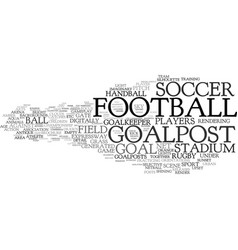 goalpost word cloud concept vector image