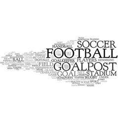 Goalpost word cloud concept vector