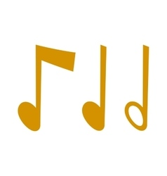 gold icons set music note melody symbols vector image