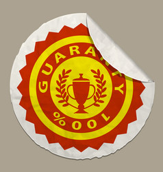 Guaranty icon on paper label vector