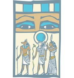 Hieroglyph Eyes vector image