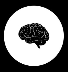 human brain organ medical simple black icon eps10 vector image