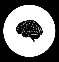 Human brain organ medical simple black icon eps10 vector