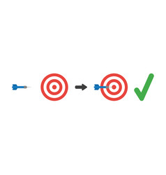 icon concept of bulls eye and dart in the center vector image
