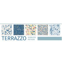 lettering set terrazzo seamless pattern design vector image