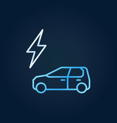 lightning and electric car creative icon in vector image