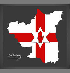 Londonderry northern ireland map with ulster vector