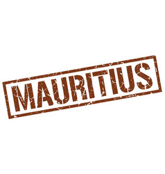 Mauritius brown square stamp vector