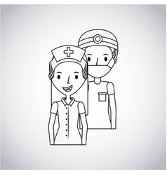 medical doctor and nurse vector image
