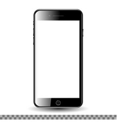 Mobil phone with blank screen vector