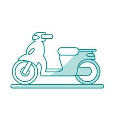 Motorcycle flat shadow vector
