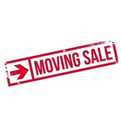 Moving sale stamp vector