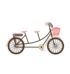 Old bicycle retro icon vector