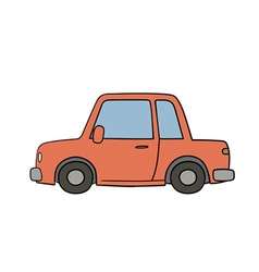 old style drawn car vector image