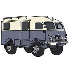Old terrain wagon vector image