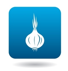 Onion icon in flat style vector image