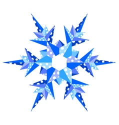 origami snowflake vector image