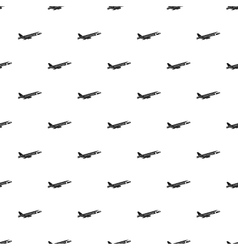 Passenger airliner pattern simple style vector image