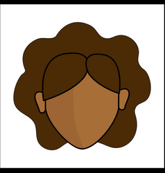 People avatar face women icon vector
