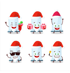 Santa claus emoticons with aeropress cartoon vector