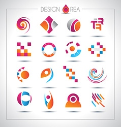 set design elements for your project vector image