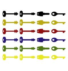 set of door keys vector image
