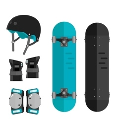 set of roller skating or skateboarding vector image