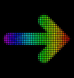 spectral colored dot right arrow icon vector image