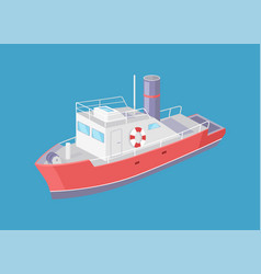 steamboat marine transport vessel sailing in sea vector image