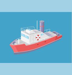 steamboat marine transport vessel sailing in sea vector image
