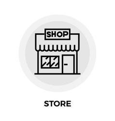 Store line icon vector