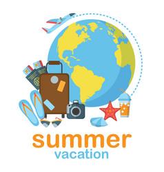 summer vacation flat poster vector image