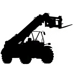 Telescopic handler silhouette vector