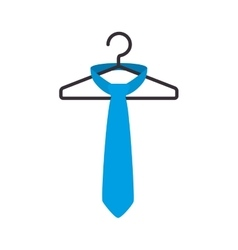 tie male fashion hanging in hook isolated icon vector image