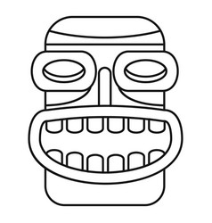 Tiki idol smile icon outline style vector