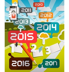 Timeline Infographics with Years Titles and vector image