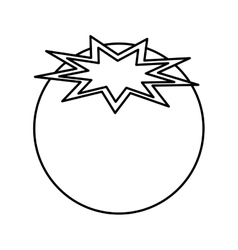 Tomato fresh vegetable icon vector