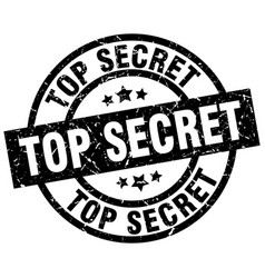 Top secret round grunge black stamp vector