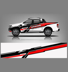 Truck wrap design wrap sticker and decal design vector