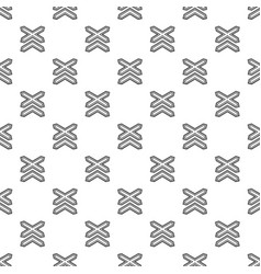Two non barrier railways pattern seamless vector
