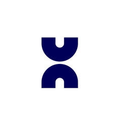 un h uhn letter logo icon lettermark sign vector image