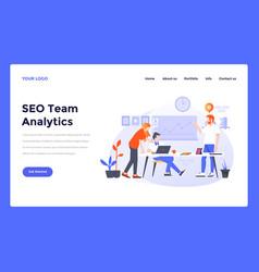 web design flat modern template - seo analytics vector image