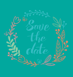 Wedding circle save the date image vector