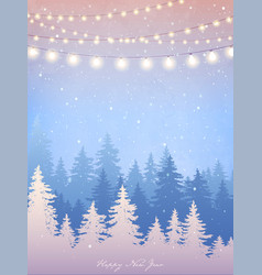 Winter card for wedding christmas party vector