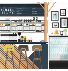 coffee shop any one vector image vector image