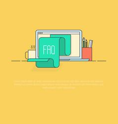 concept faq for website list jumps vector image