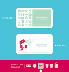 Modern soft color Card design with shopping icons vector image vector image