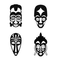 Set of african ethnic tribal masks vector
