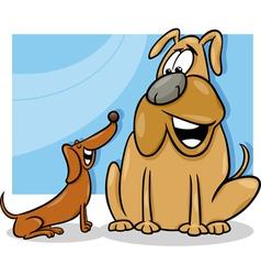 talking dogs cartoon vector image vector image