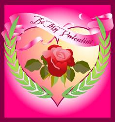 valentine rose vector image